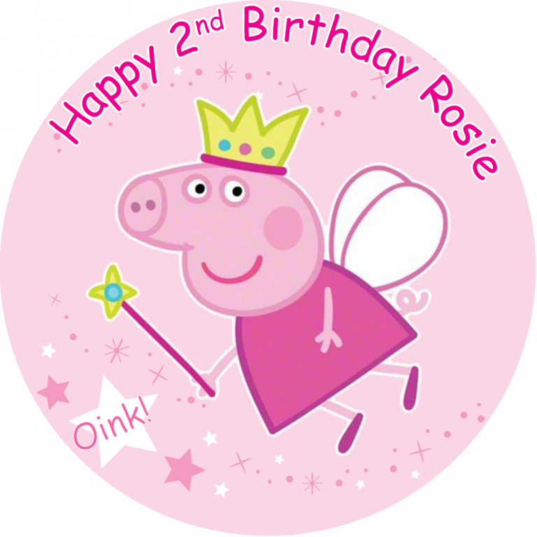 Peppa pig princess birthday clipart vector free download Peppa Pig Birthday clipart - Pig, Birthday, Circle ... vector free download