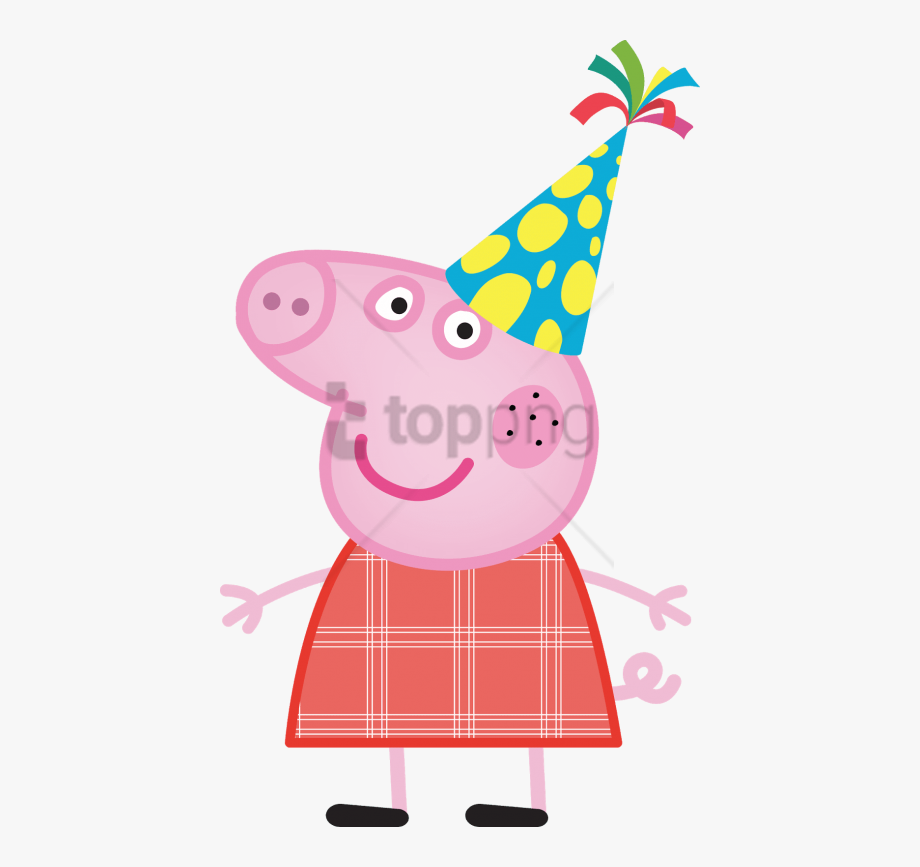 Peppa pig princess birthday clipart jpg royalty free library Birthday Party Clipart Peppa Pig - Transparent Peppa Pig Png ... jpg royalty free library