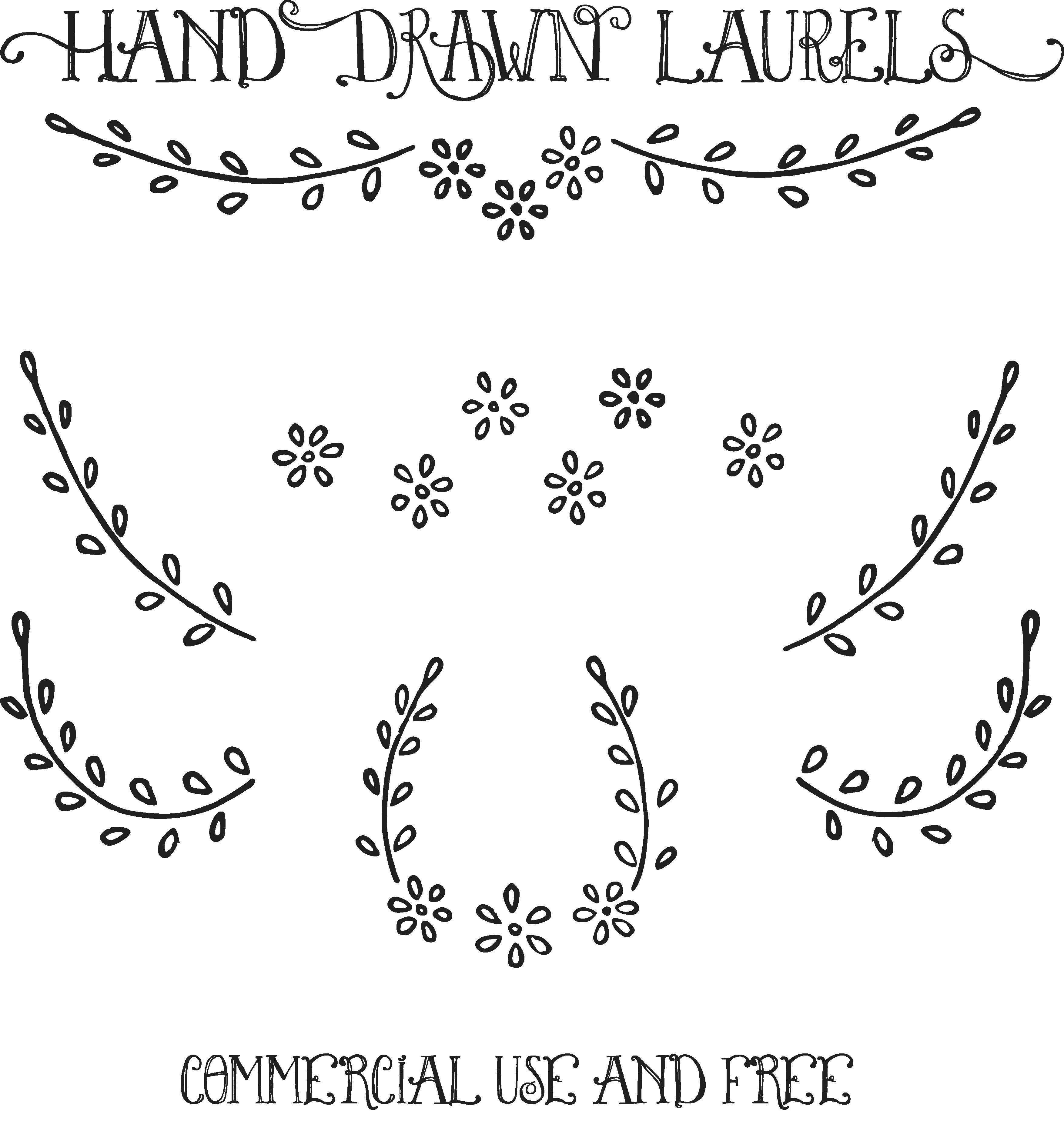 Perky turkey clipart transparent download Royalty Free Images Hand Drawn Laurels Clip Art Vectors Oh So ... transparent download