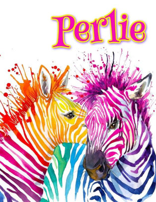 Perlie clipart graphic library library Perlie: Rainbow Zebras, Personalized Journal, Diary, Notebook, 105 Lined  Pages, Christmas, Birthday, Friendship Gifts for Girls, Teens and Women,  Book ... graphic library library