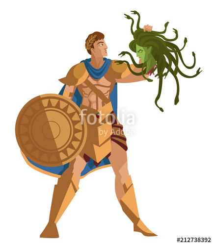 Perseus and medusa clipart svg freeuse download perseus with medusa head\