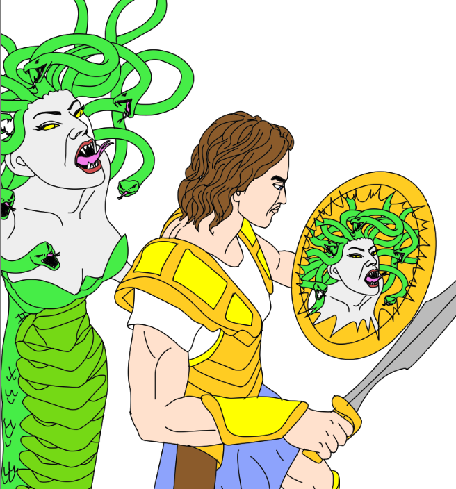 Perseus and medusa clipart vector library Perseus VS Medusa | Medusa | Medusa vector library