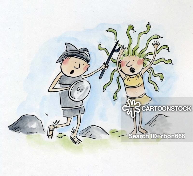 Perseus and medusa clipart picture stock Perseus Cartoons and Comics - funny pictures from CartoonStock picture stock