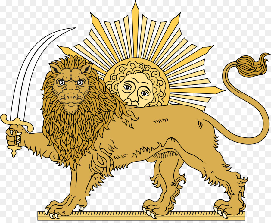 Persian clipart vector royalty free library Flower Line Art clipart - Lion, Wildlife, Line, transparent ... vector royalty free library
