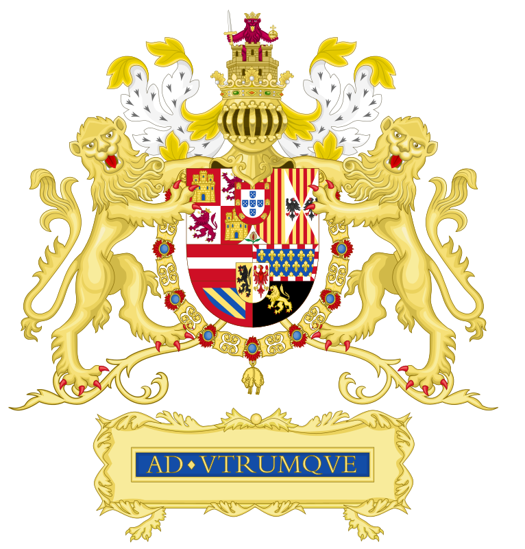 Persian pahlavi crown clipart image black and white library Coat of arms House of Habsburg Portugal | Heraldry | Pinterest ... image black and white library