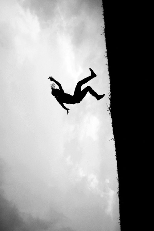 Person about to fall off cliff clipart vector black and white stock Free Falling Person, Download Free Clip Art, Free Clip Art ... vector black and white stock