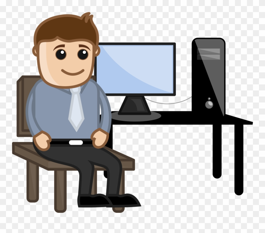 Person at computer black and white clipart png stock Transparent Teacher Computer Graphic Black And White ... png stock