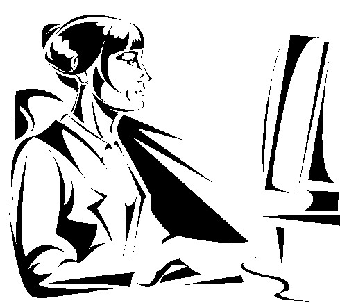 Person at computer black and white clipart picture free download Free Person On Computer Clipart, Download Free Clip Art ... picture free download