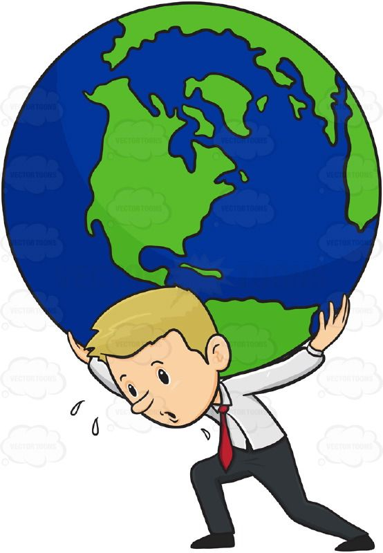 Person carrying someone on their back clipart vector library stock Man In Business Apparel, Carrying Giant Earth Globe World On ... vector library stock