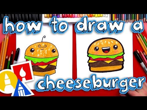 Person eating a hamburger with funny eyes clipart banner free download How To Draw A Funny Cheeseburger banner free download