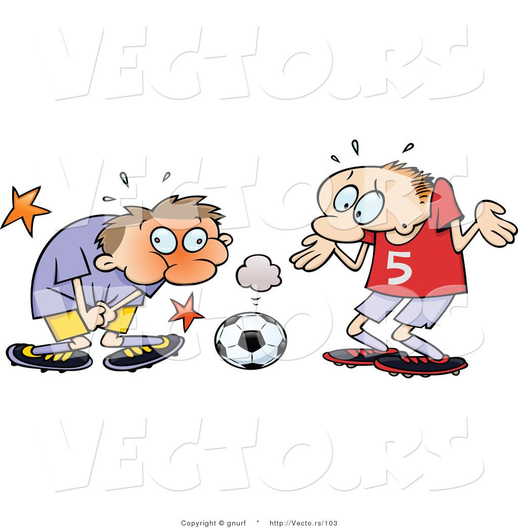 Clipart of a coach grabbing a football player clipart free Vector of an Injured Cartoon Soccer Player Grabbing His ... clipart free