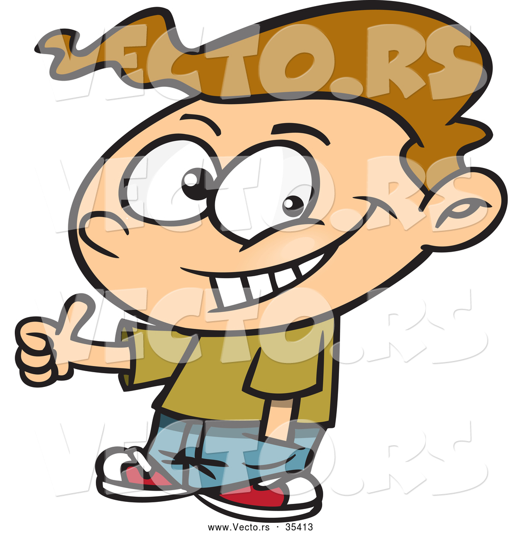 Person giving thumbs up clipart clip library library Vector of a Confident Cartoon Boy Giving Thumbs up Hand Gesture ... clip library library
