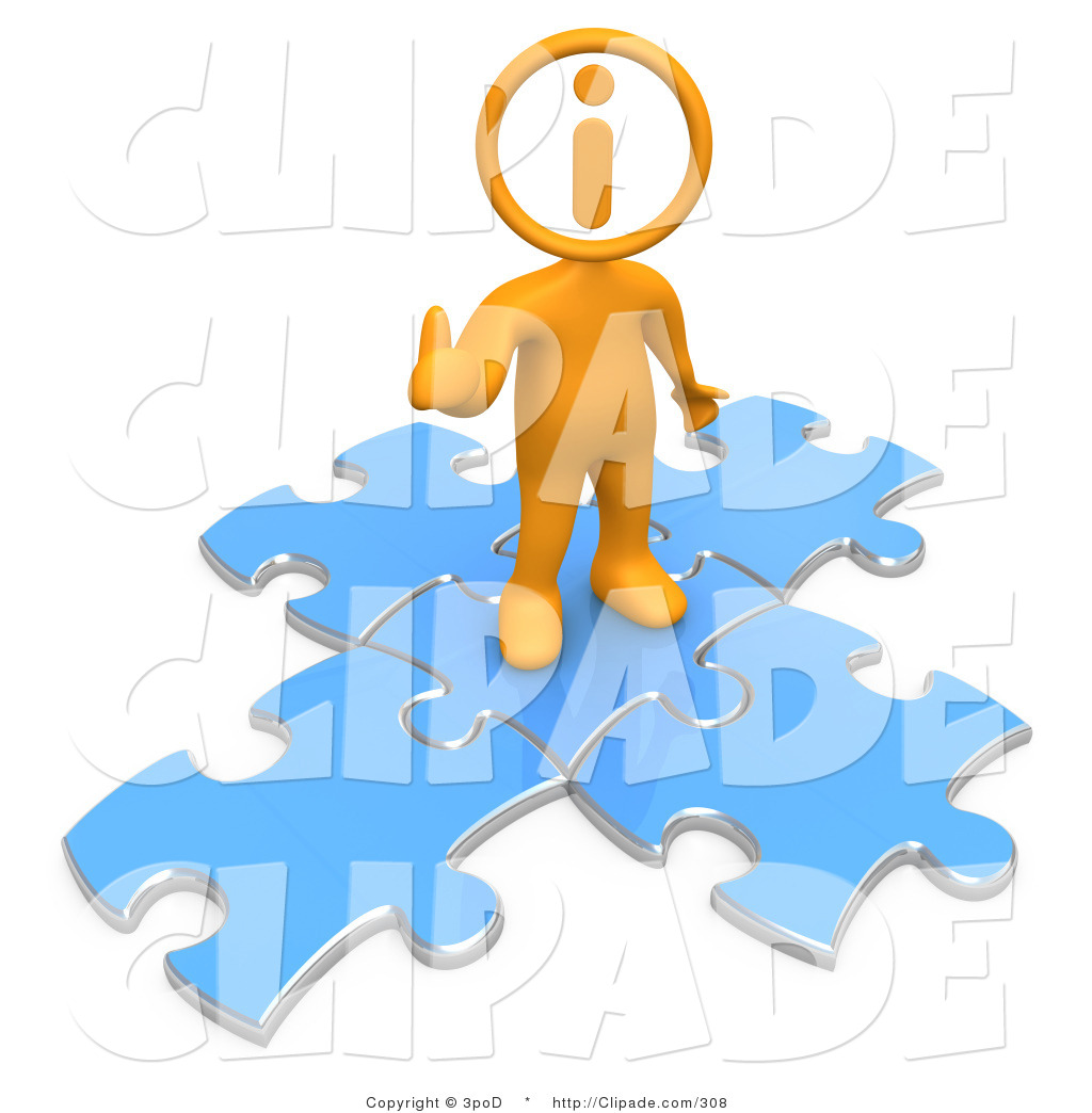 Person giving thumbs up clipart clip art Clip Art of an Orange Person with an I Inside His Circle Head ... clip art