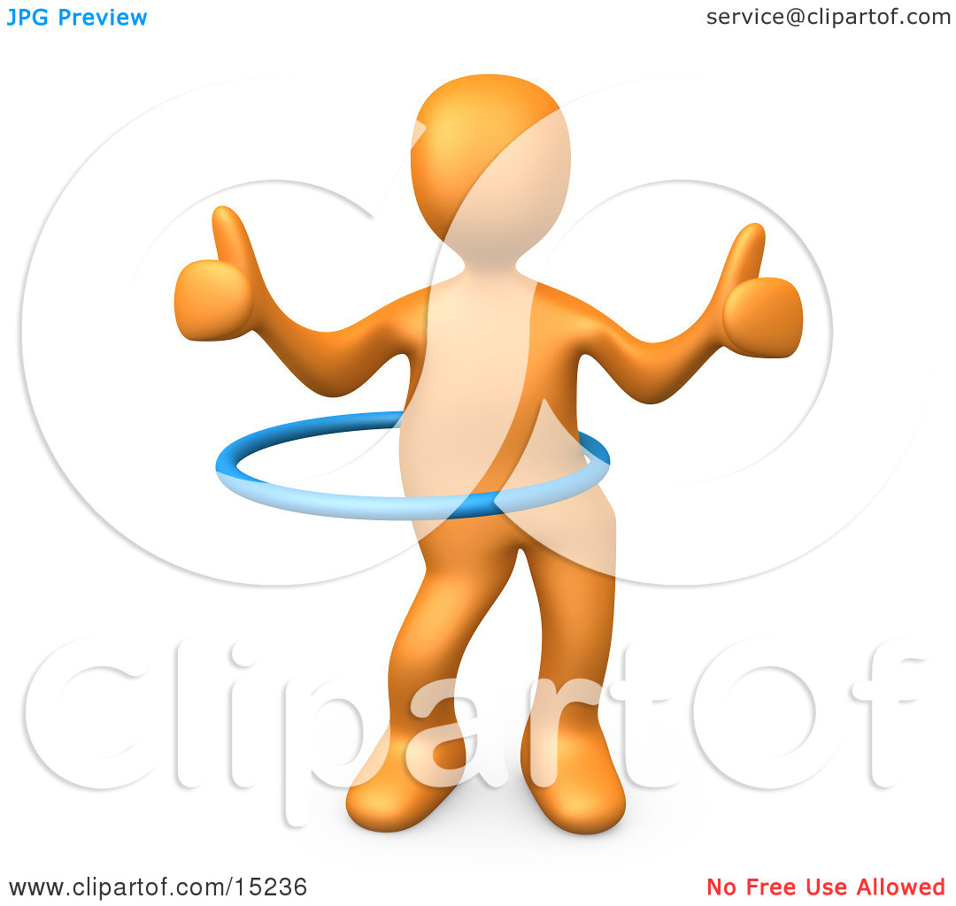 Person giving thumbs up clipart clip art transparent library Orange Person Giving Two Thumbs Up While Swinging Their Hips With ... clip art transparent library