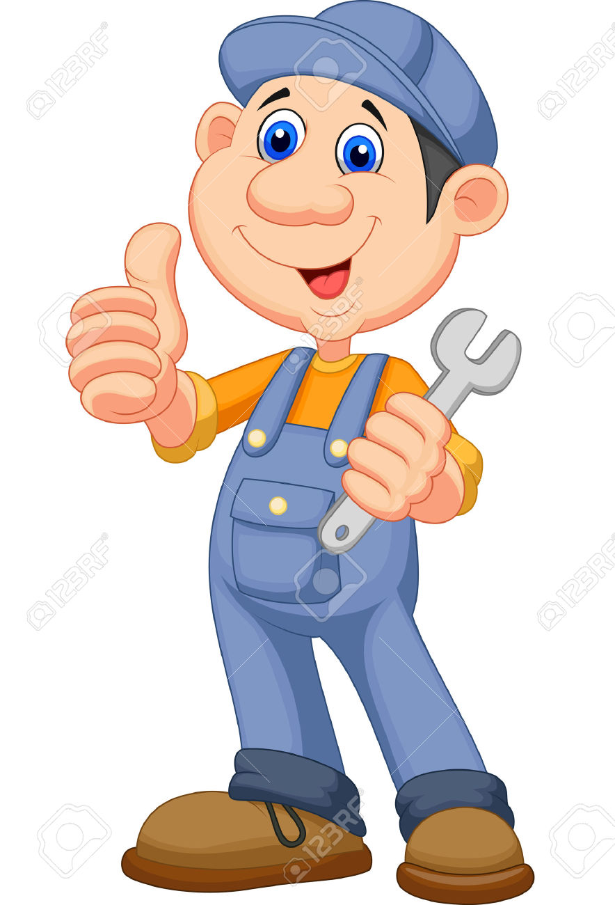 Person giving thumbs up clipart clip art Cute Mechanic Cartoon Holding Wrench And Giving Thumbs Up Royalty ... clip art