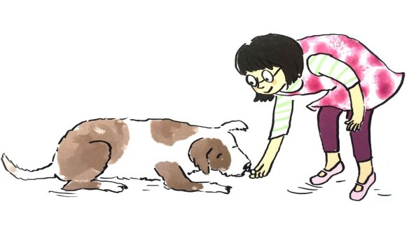 Person handing a treat to a dog clipart clip library How To Teach Your Dog To Lay Down - Best top care with dogs clip library
