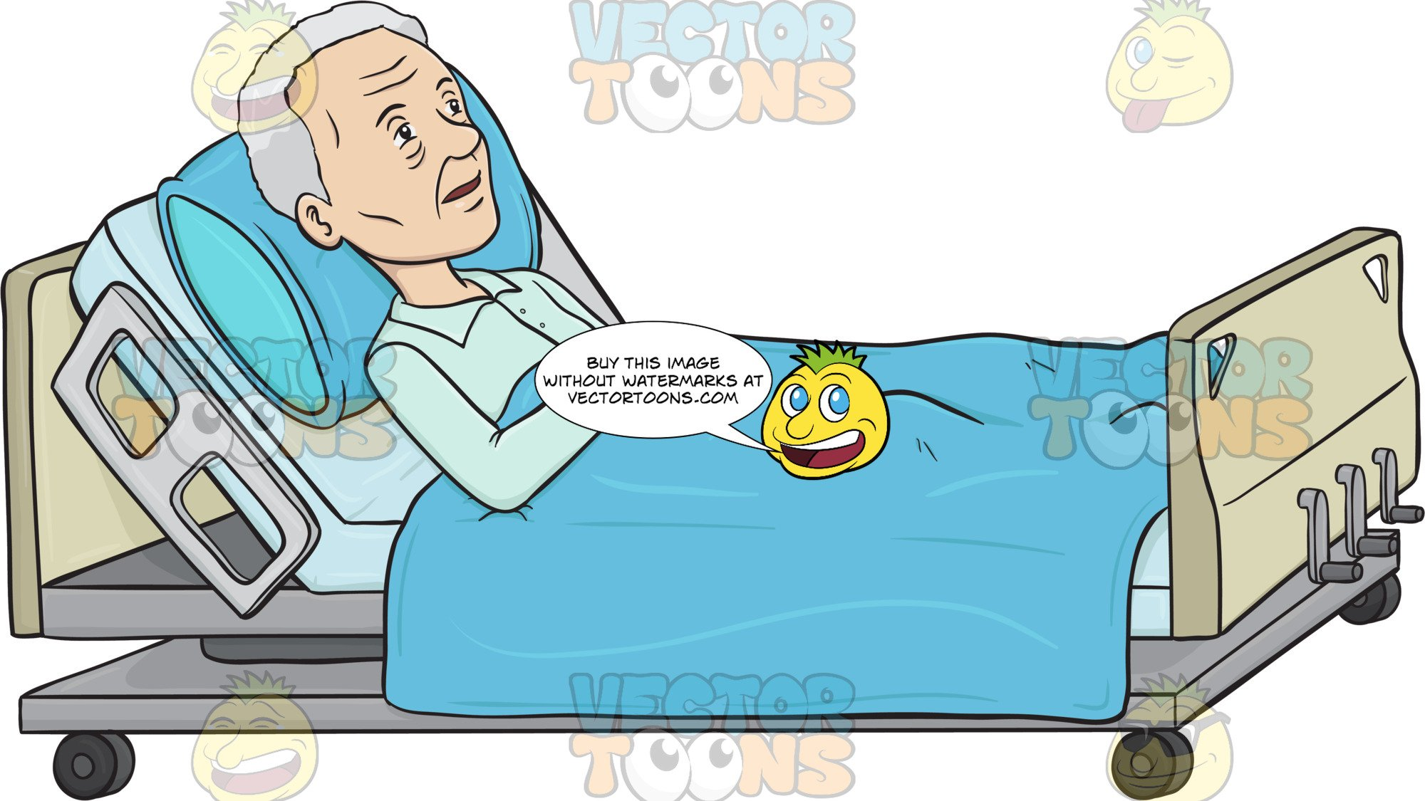 Person in hospital bed clipart clipart transparent library Old Lady Lying In A Hospital Bed clipart transparent library