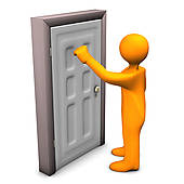 Person knocking on door clipart image black and white library Free Please Knock Cliparts, Download Free Clip Art, Free ... image black and white library