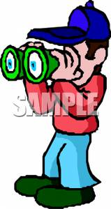 Person looking through binoculars clipart image black and white library A Man Looking Through Binoculars Clipart Picture image black and white library