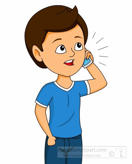 Person on cell phone clipart vector royalty free library Talking On The Cell Phone Clipart | Furniture Walpaper vector royalty free library