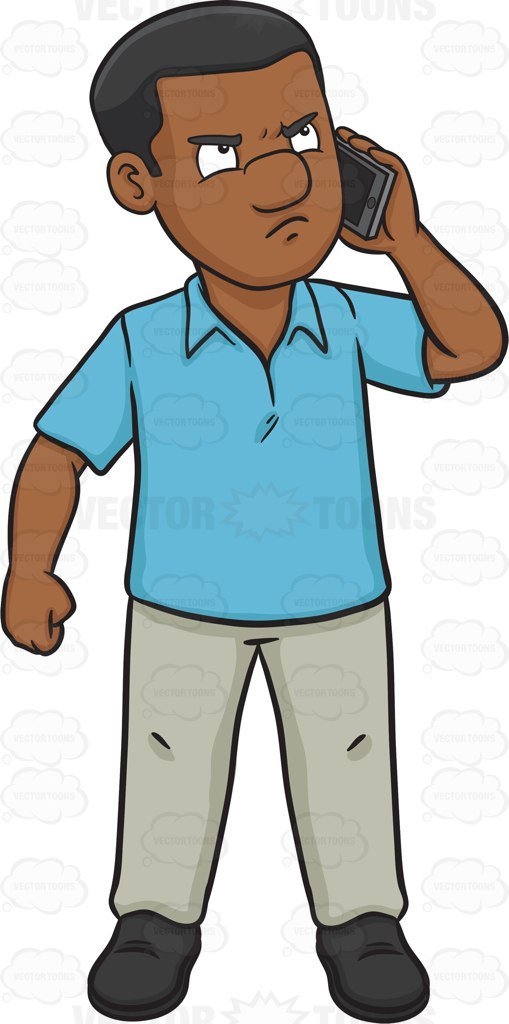 Person with phone clipart