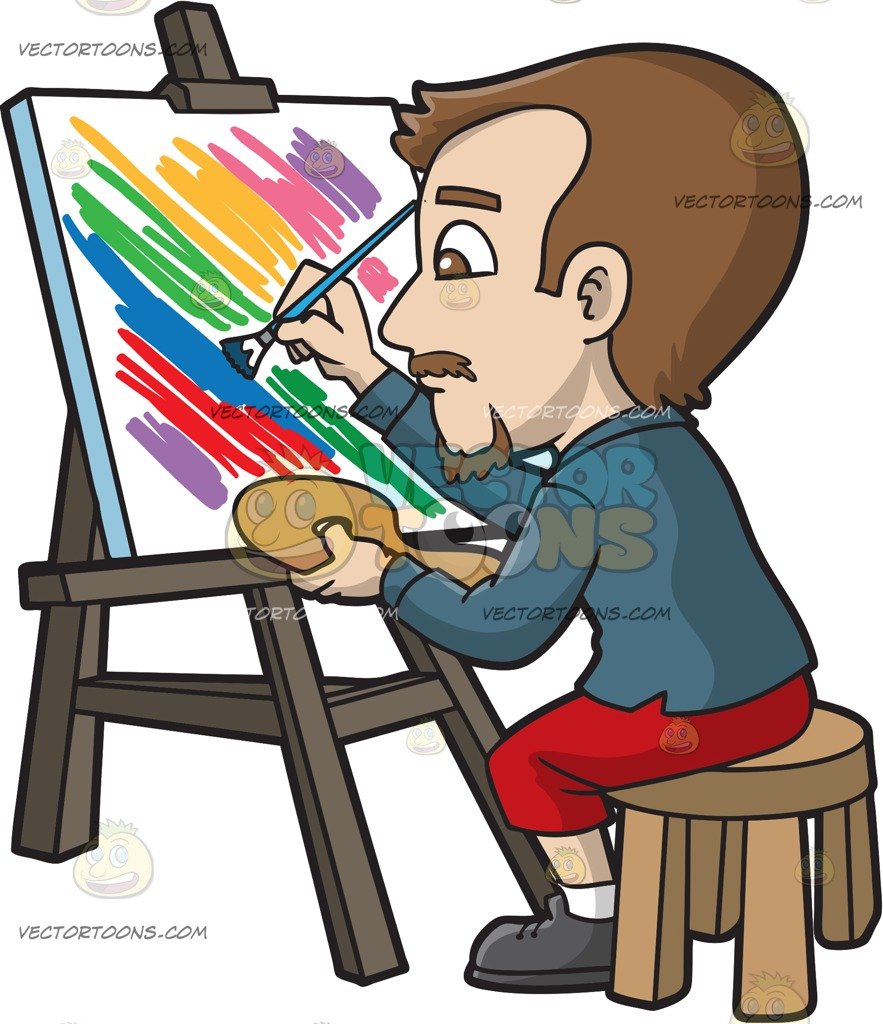 Person painting clipart picture freeuse download Man Painting Cliparts | Free download best Man Painting Cliparts on ... picture freeuse download