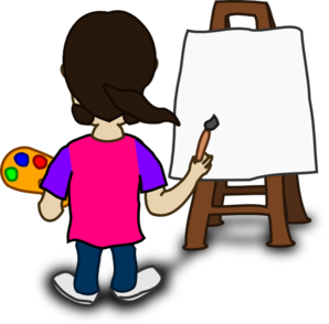 Person painting clipart banner royalty free library Cartoon Character Painting Blank Slate Clip Art at Clker.com ... banner royalty free library