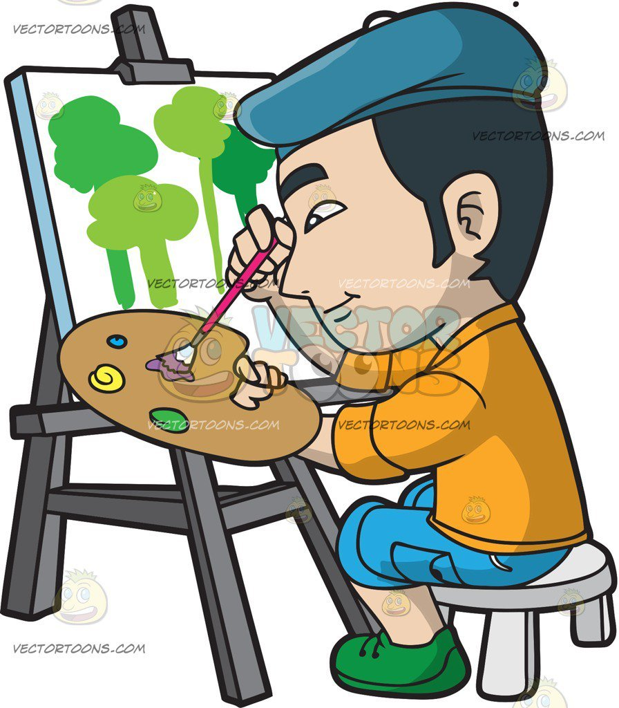 Person painting clipart image transparent stock Person painting clipart 7 » Clipart Portal image transparent stock