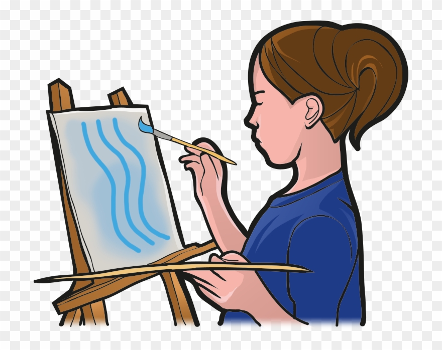 Person painting clipart png library library Easel Clipart Person Painting - Painting - Png Download (#2209266 ... png library library