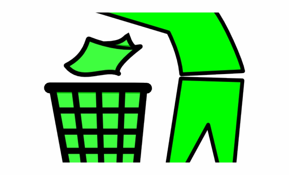 Person putting something into garbage can clipart