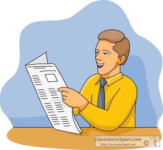 Person reading newspaper clipart picture black and white stock People Reading Newspaper Clipart | World Of Label regarding ... picture black and white stock