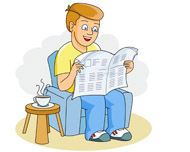 Person reading newspaper clipart free stock Free Reading Newspaper Cliparts, Download Free Clip Art ... free stock