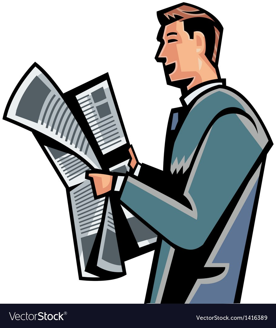 Person reading newspaper clipart png transparent stock Person reading newspaper clipart 6 » Clipart Portal png transparent stock