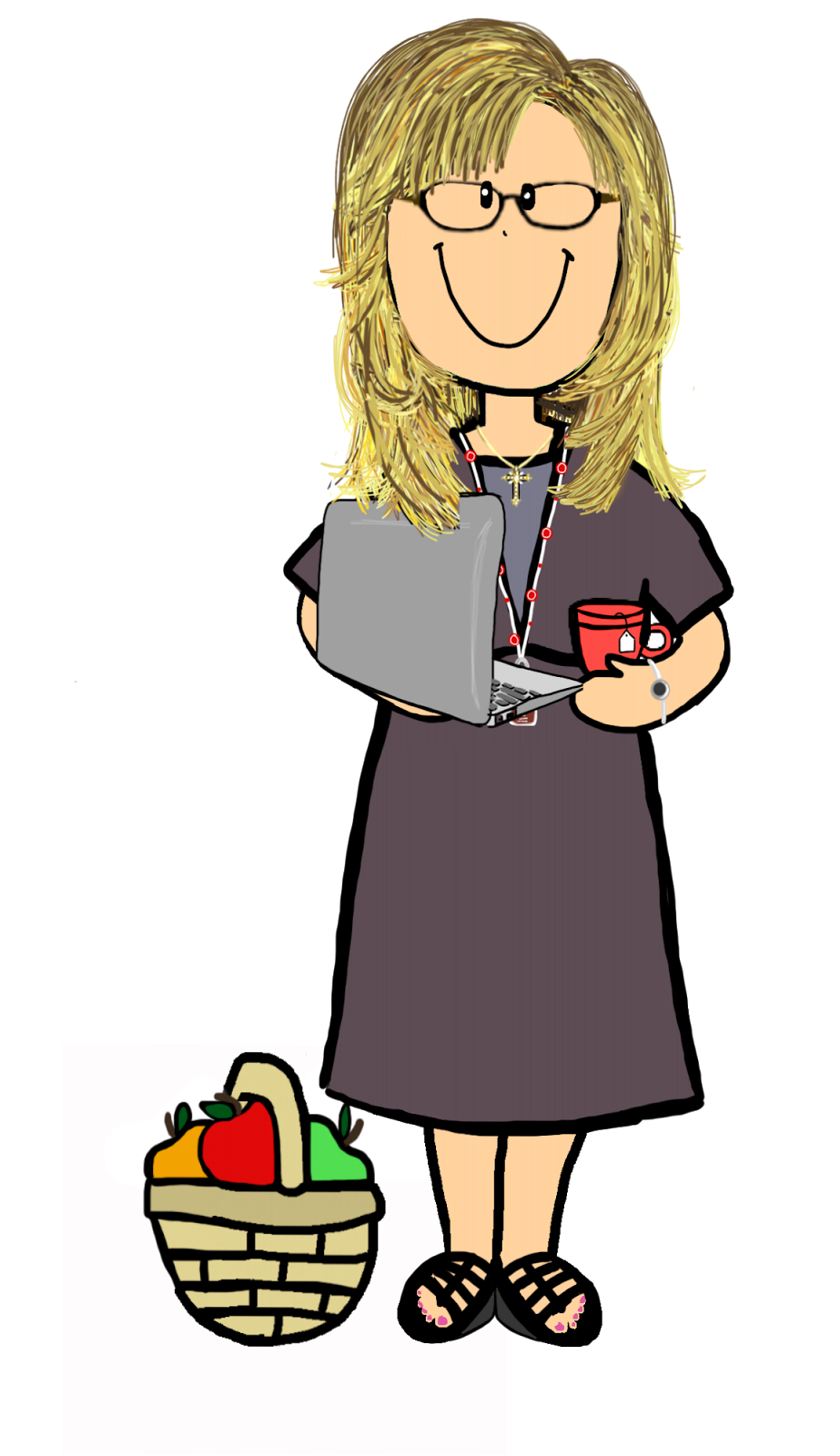 Person receiving an apple clipart svg library library The Apple Basket Teacher: New Logo, New Look, Moving Forward! svg library library