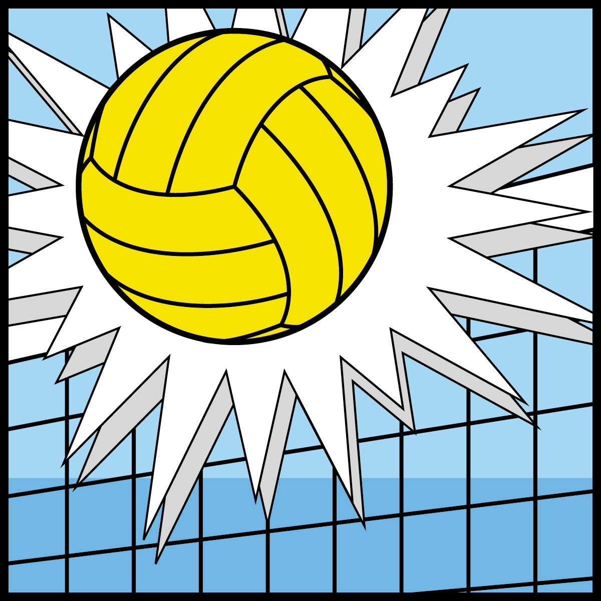 Volleyball yellow white clipart vector library download Volleyball Serve Clipart   Clipart Panda - Free Clipart Images vector library download