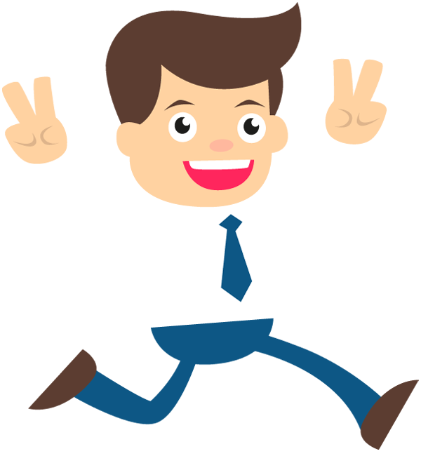 Person shaking excited clipart picture black and white download Happy clipart business person, Happy business person ... picture black and white download