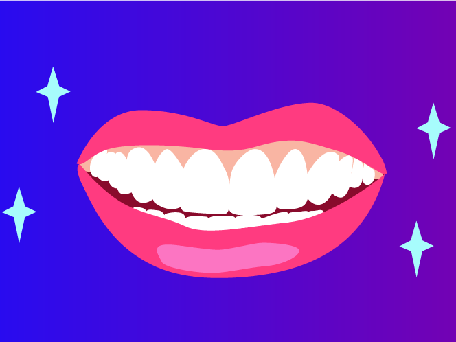 Person smiling which brushing teeth clipart side view transparent download Veneers Are The Celebrity Secret To A Perfect Smile | SELF transparent download