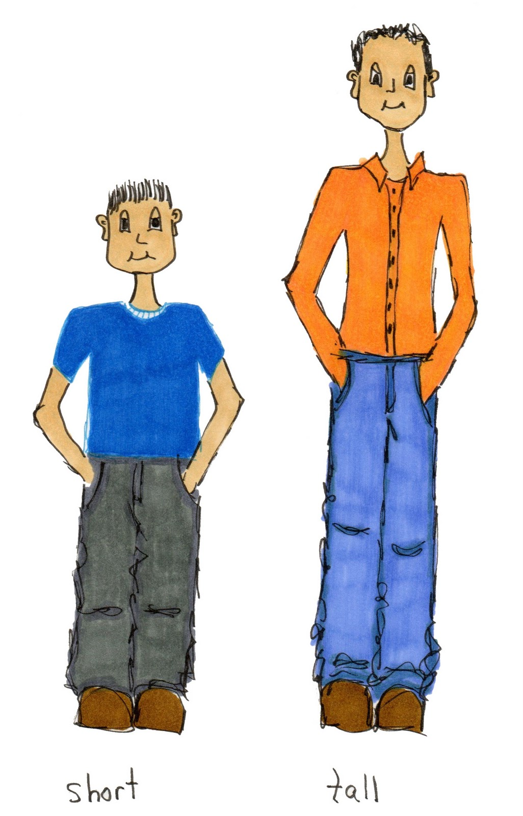 Person vs people clipart clip library Tall and short person clipart - ClipartFest clip library