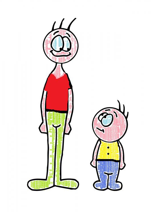 Person vs people clipart image royalty free Tall and short person clipart - ClipartFest image royalty free