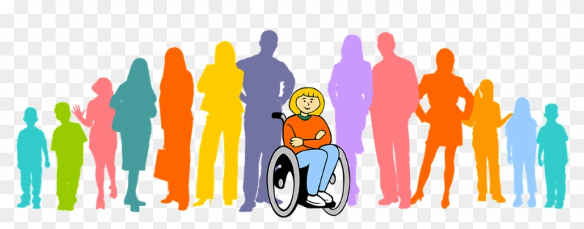 Person with disability clipart vector free library Inclusion, Group, Wheelchair - Person With Disability ... vector free library
