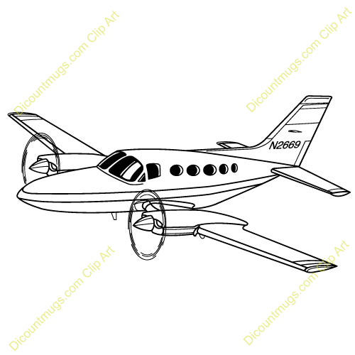 Personal plane clipart