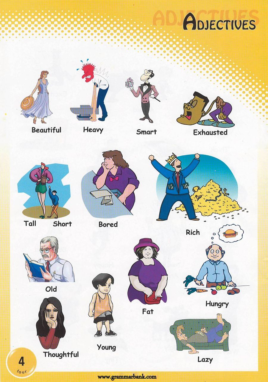 Personality adjectives clipart picture library library Adjectives Pictures - Download and Print picture library library