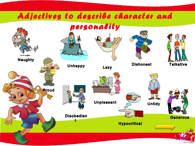 Personality adjectives clipart vector transparent English 2 ESO: October 2015 vector transparent