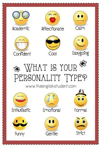 Personality adjectives clipart vector free Share your personality type! | All Things For English Learners ... vector free