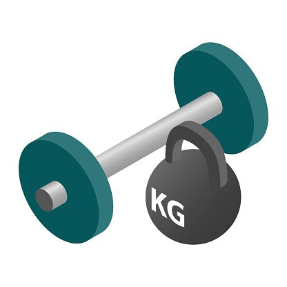 Pesa clipart png free Barbell and Weight Isometric Icon premium clipart ... png free