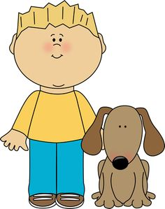 Pet the dog clipart clip art library Boy with dog clipart - ClipartFest clip art library