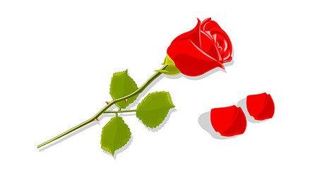 Petalos clipart clip art freeuse Imágenes clip art y gráficos vectoriales Pétalos y rosas ... clip art freeuse