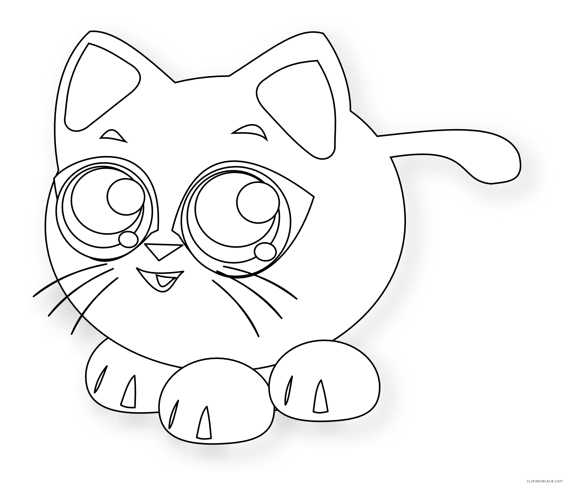 Pete the cat black and white clipart graphic black and white Cat - Page 39 of 95 - ClipartBlack.com graphic black and white