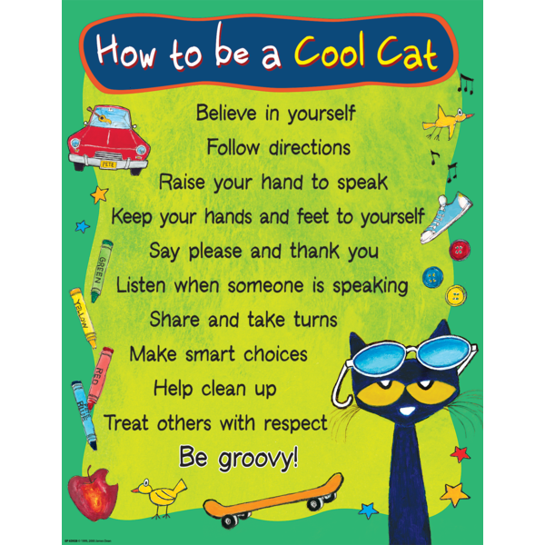 Pete the cat button clipart banner freeuse download Pete the Cat How To Be A Cool Cat Chart | Pinterest | Chart, Cat and ... banner freeuse download