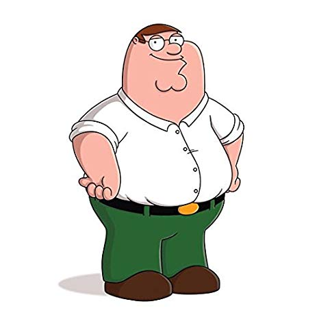 Peter distributing food and clothing to families clipart clip art black and white stock Family Guy Peter Griffin Standing with Big Smile 8 x 10 Inch ... clip art black and white stock